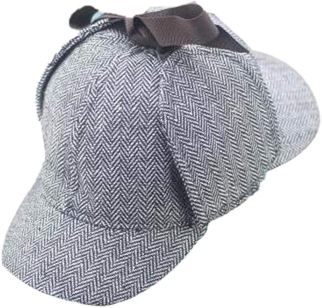 BYFRI Sherlock Holmes Gorro de Cazador Sombrero clásico de Lechuga ...