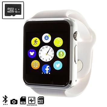 DAM TEKKIWEAR. Smartwatch G08 con cámara y opción a SIM + Micro SD ...