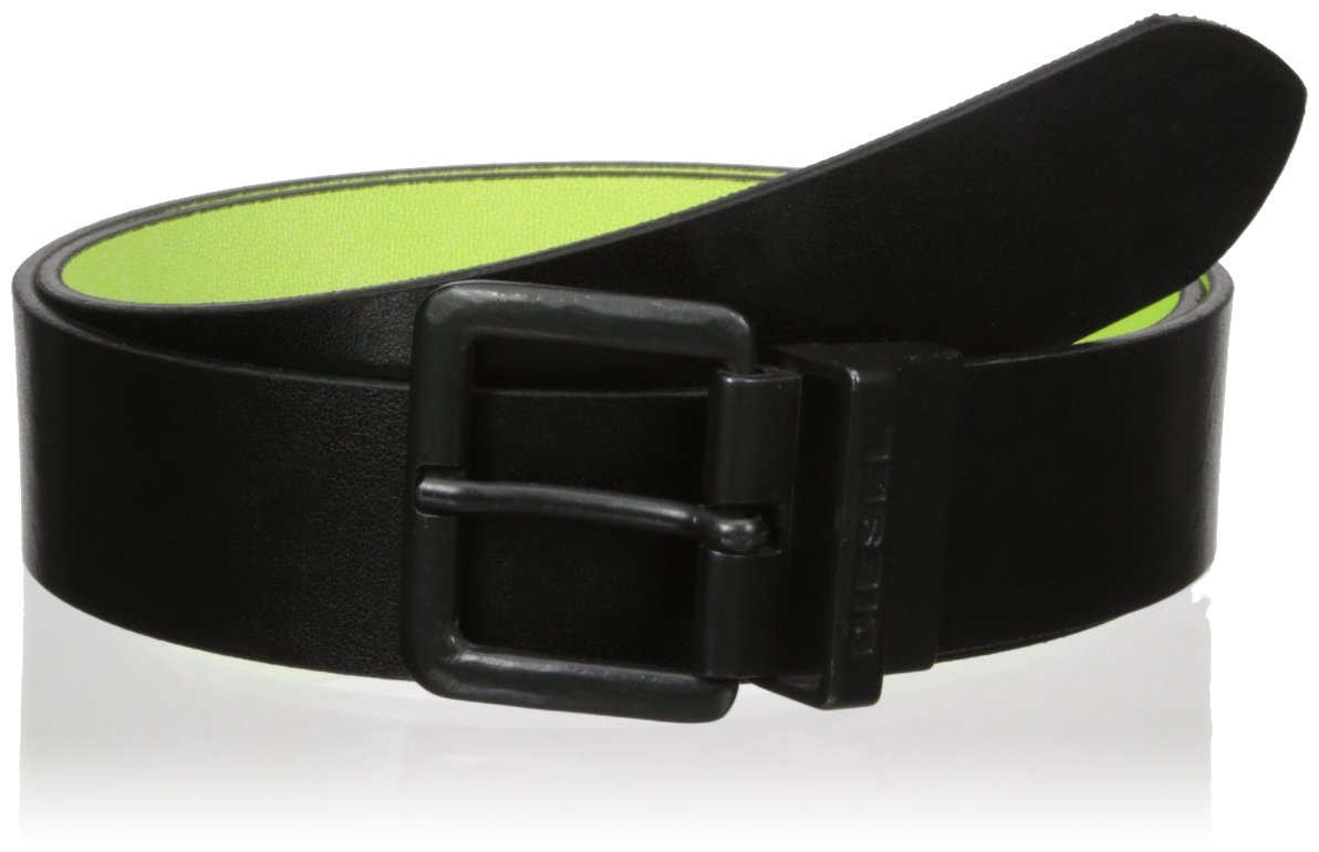 (ディーゼル) DIESEL メンズ ベルト - B-DOUBLEC - belt X03820P0875 B01H9EVHOC 95|Black/Acid Green Black/Acid Green 95