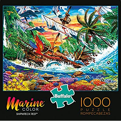 Buffalo Games - Marine Color - Shipwreck Reef - 1000 Piece Jigsaw Puzzle: Toys & Games