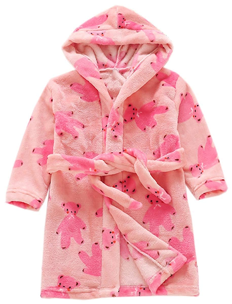 Kids Fleece Robe Bathrobe