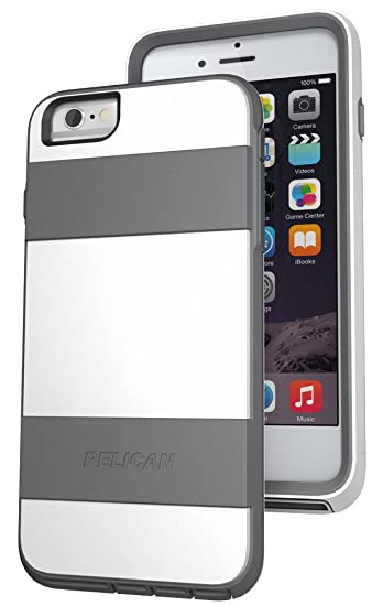 separation shoes 2f300 41ecd Pelican ProGear Voyager Phone Case + Kickstand for Apple iPhone 6 PLUS  White (Not for the 4.7 Inch)