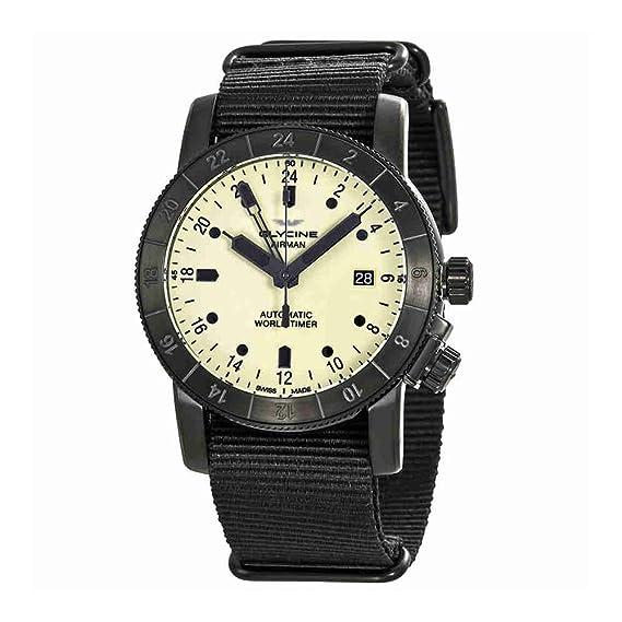 Glycine Reloj Analógico para Hombre de Automático con Correa en Tela GL0069: Amazon.es: Relojes