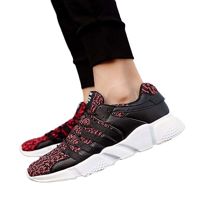 JiaMeng Zapatillas Deportivas Que Usan Malla Resistente Zapatillas Transpirables de Entrenamiento para Hombre Malla Respirable Zapatillas Aptitud Ligero ...