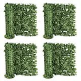 ZENY Set of 4 Faux Ivy Privacy Fence Screen 94'' X 59'' Artificial Hedge Fencing Outdoor Decor (4)
