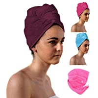 TowelsRus Spa Days Luxury Hair Turban available in 6 Colours Lightweight Cotton