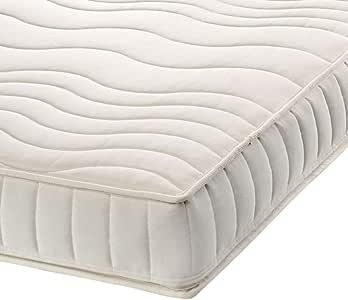 Colchón de látex natural y algodón orgánico, tela, Blanco, 90 x 190 cm: Amazon.es: Hogar