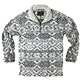 True Grit Men's Frosty Tipped Pile 1/4 Zip Pullover, Tribal Putty, L