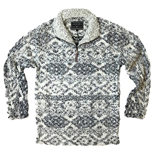 True Grit Men's Frosty Tipped Pile 1/4 Zip Pullover, Tribal Putty, L by True Grit