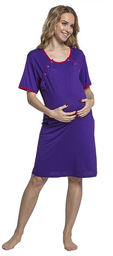 HAPPY MAMA mujer camisón premamá de embarazo y lactancia. 079p.: Amazon.es: Ropa y accesorios