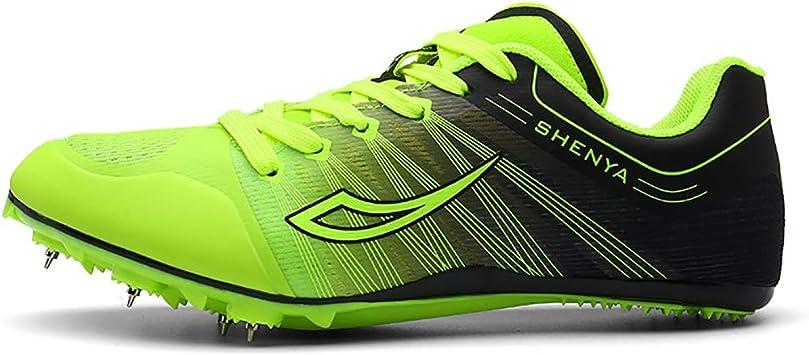Zapatillas De Atletismo Unisex, Zapato Sprint Bota High Jump Spikes Long Jump Spikes Pista De Plástico Running Spikes Calzado De Running Mediano Y Corto para Adolescentes: Amazon.es: Deportes y aire libre
