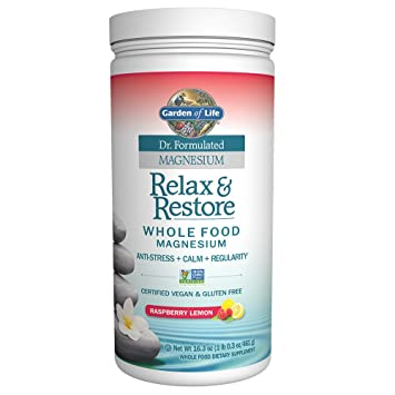 Garden of Life Dr. Formulated Magnesium Relax & Restore Raspberry Lemon 16.3oz (461g