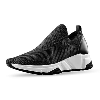 Yolkomo Women's Man's Knit Sock Sneaker Chunky Platform Walking Shoes | Walking