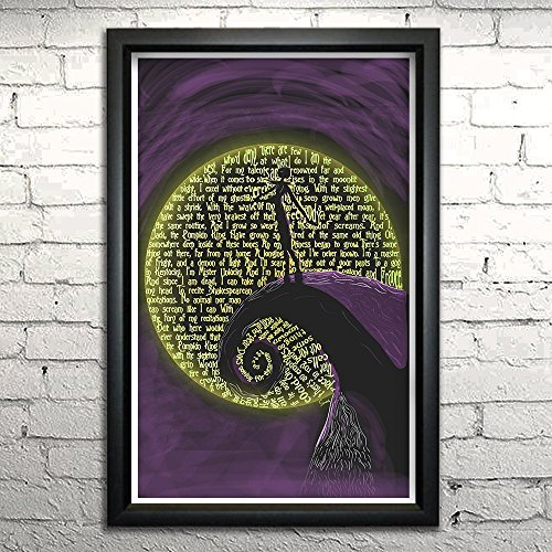 Nightmare Before Christmas Jack Skellington word art print 11x17