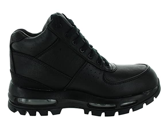 cheaper 5523e a4501 Amazon.com   Nike Kids Air Max Goadome (GS) Black Black Metallic Silver Boot  7Y   Boots