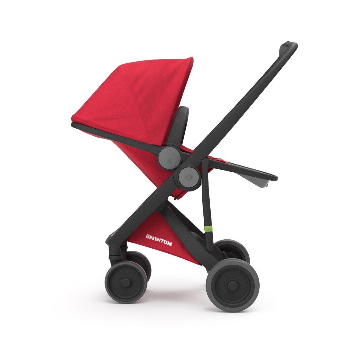 Cochecito UPP Reversible chasis negro + Asiento rojo greentom: Amazon.es: Bebé