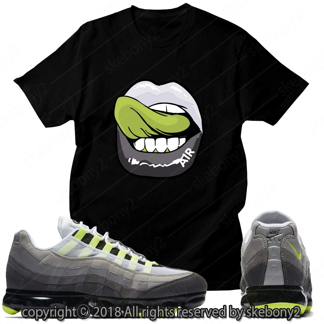Custom T Shirt Matching Style Of Nike Air Vapormax 95 Its Electric