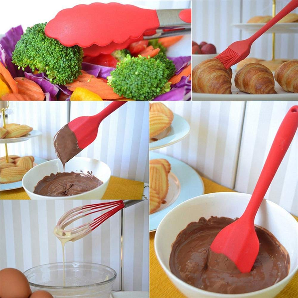 Black Silicone Heat-Resistant Non-Stick Kitchen Utensils Cooking Tools Kitchen Utensil Set