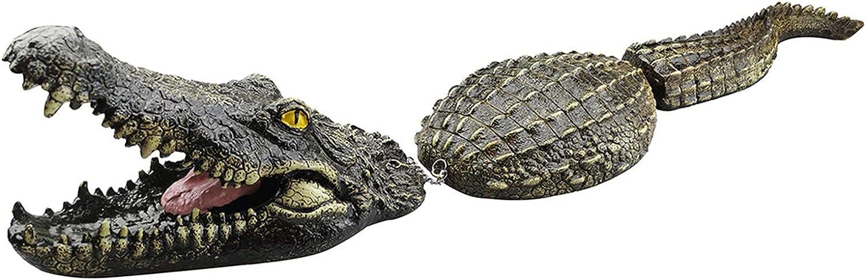 Floating Crocodile Decoy Alligator Water Decoy Crocodile Park Decor Garden or Pond Art Decor Alligator Sculpture Pond Simulation Crocodile Model for Predator Heron Duck Control