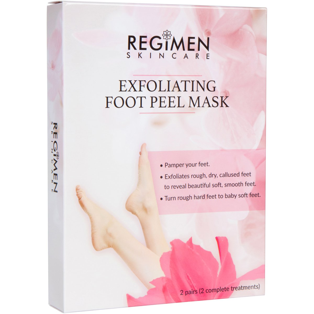 Foot Peeling Mask -2 Pairs Exfoliating Foot Peeling Socks -Foot Calluses and Dead Skin Remover, Smooth Baby Soft Feet in 1-2 Weeks, Foot Spa for Dry Feet, For Men and Women Regimen Skincare