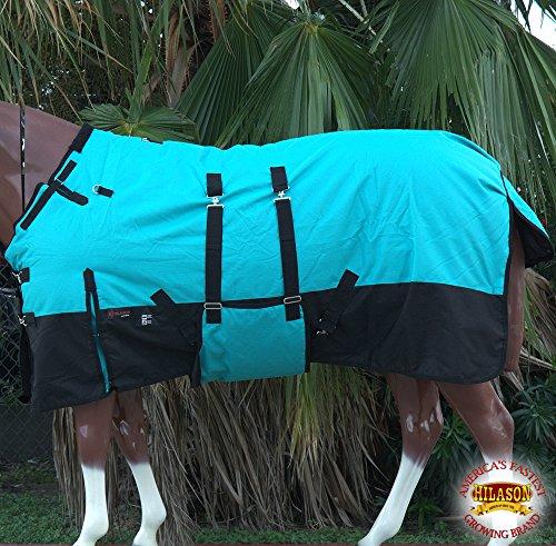 HILASON 84″ 1200D Winter Waterproof Poly Horse Blanket Bellywrap
