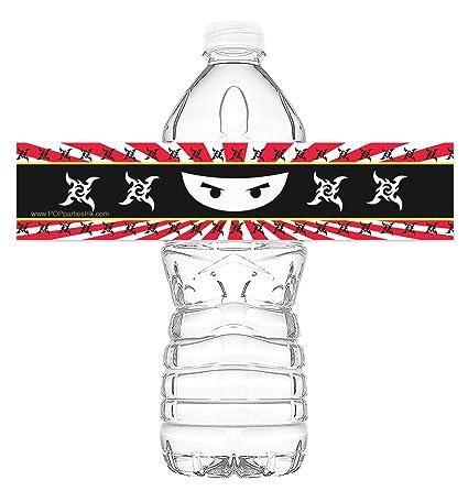 Amazon.com: Ninja botella Wraps – Juego de 20 – Ninja ...