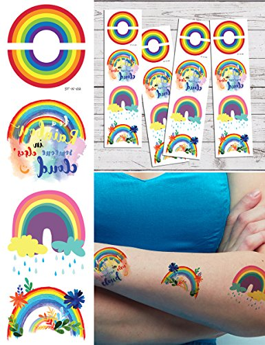 (Supperb Temporary Tattoos - Colorful Rainbow Tattoos (Set of)