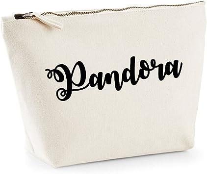 Pandora personalizado nombre algodón Lienzo Make Up neceser bolsa ...