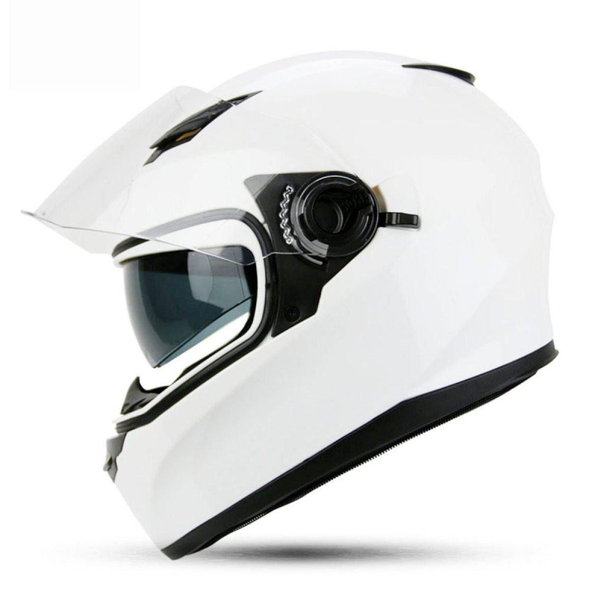 TERMV Doppel-objektiv Voller Helm Motorrad Männlich Weiblich Winter Helm Kalten Warmen Elektrischen Auto Helm,G-L