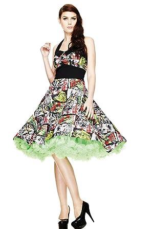 Amazon.com: Hell Bunny Women\'s Horror B-Movie Rockabilly 50\'s Dress ...