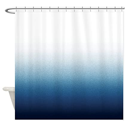 CafePress Beautiful Indigo Blue Ombre Decorative Fabric Shower Curtain 69quot