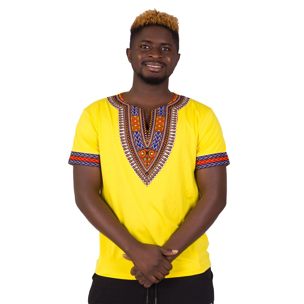 FANS FACE African Traditional Dashiki Men Fashion T-shirt Tops 2018 Nigeria Short Sleeve Plus Size by FANS FACE (Image #5)