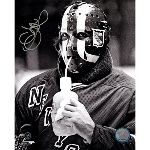 John Davidson Signed Drinking Water New York Rangers 8x10 Photo by Steiner Sports