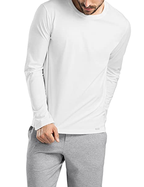 Living Shirts Shirt 1/1 Arm, Camiseta de Manga Larga para Hombre, Gris (Grey Melange 1036), X-Large Hanro