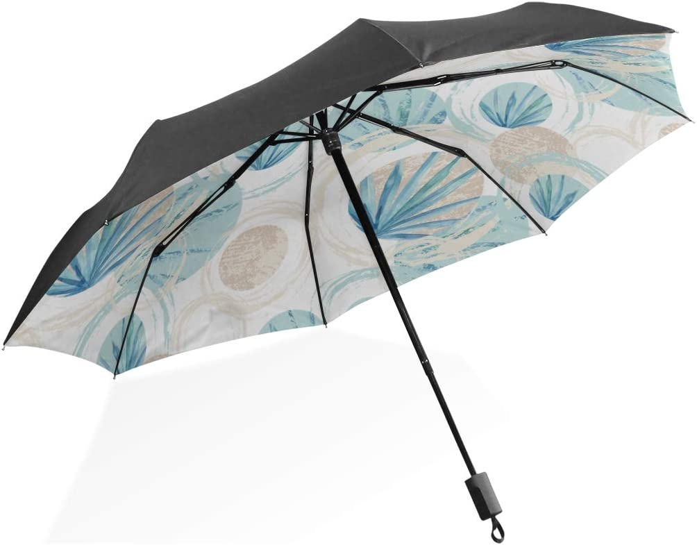 Umbrellas For Men Abstract Geometric Seamless Pattern Circles Fan Portable Compact Folding Umbrella Anti Uv Protection Windproof Outdoor Travel Women Umbrellas For Kids