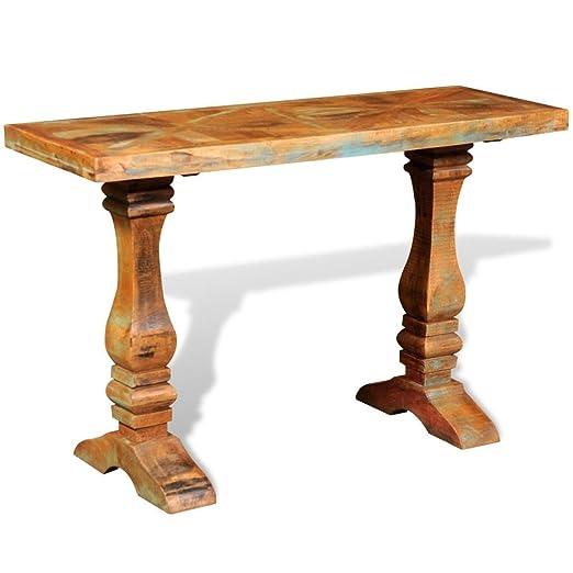 vidaXL Mesita consola mesa auxiliar de café comedor salón madera ...