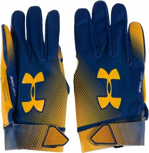 Navy Midshipmen Team Issued Navy Spotlight Gloves from the 2017 Football Season Size L Fanatics Authentic Certified