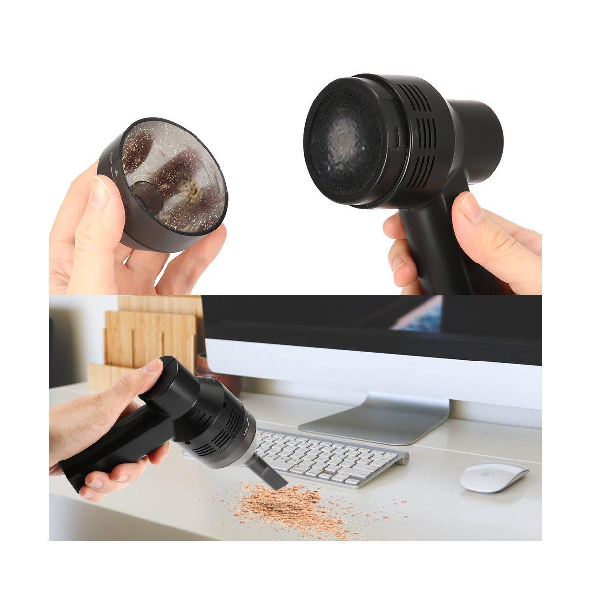 Teclado Aspiradora, Meco Cargador Batería de litio inalámbrica Vacuum Cleaner Portable Mini teclado limpiador, limpiar la brecha para teclado, Laptop, Auto, ...