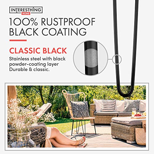 Heavy Duty Metal Coffee Table Legs with Screws and Hairpin Leg Protector Included - 4 Piece Set - Pre-Drilled Holes for Easy Installation - Add Mid Century Modern Flair to Your Home (20'') by INTERESTHING home (Image #4)
