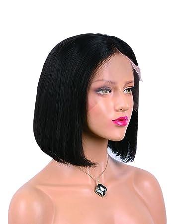 Amazon Com Labeh Human Hair Lace Front Wigs Short Bob Lace Front