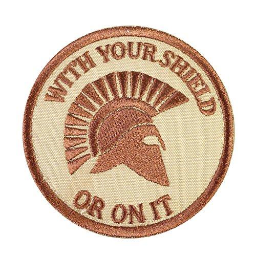 LEGEEON Desert AOR1 Your Shield ON IT Spartan Helmet Morale Embroidered Touch Fastener Patch