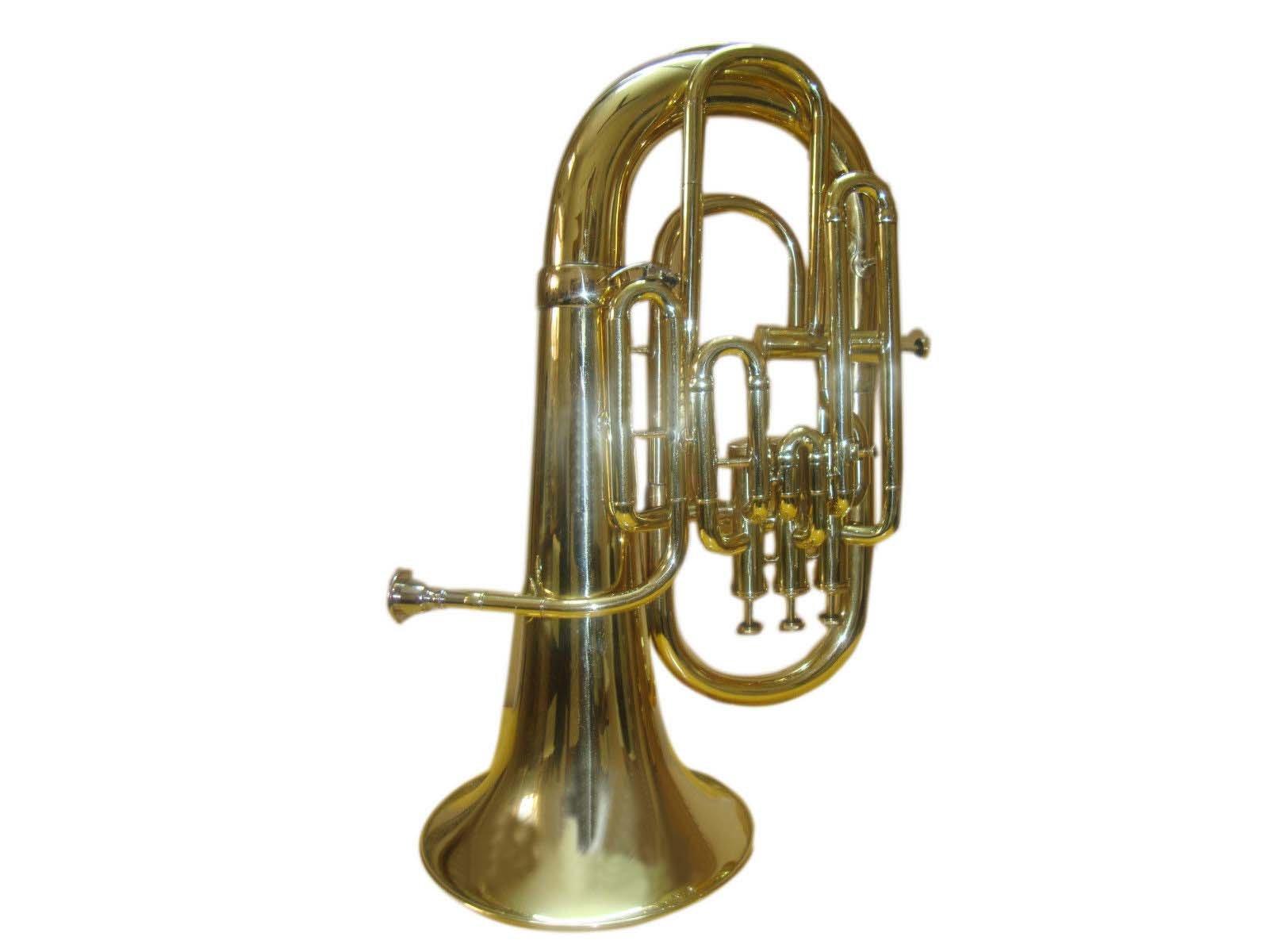 SHREYAS Bb/F 4 Valve Flat Brass Finishing Euphonium With Free Hard Case+M/P