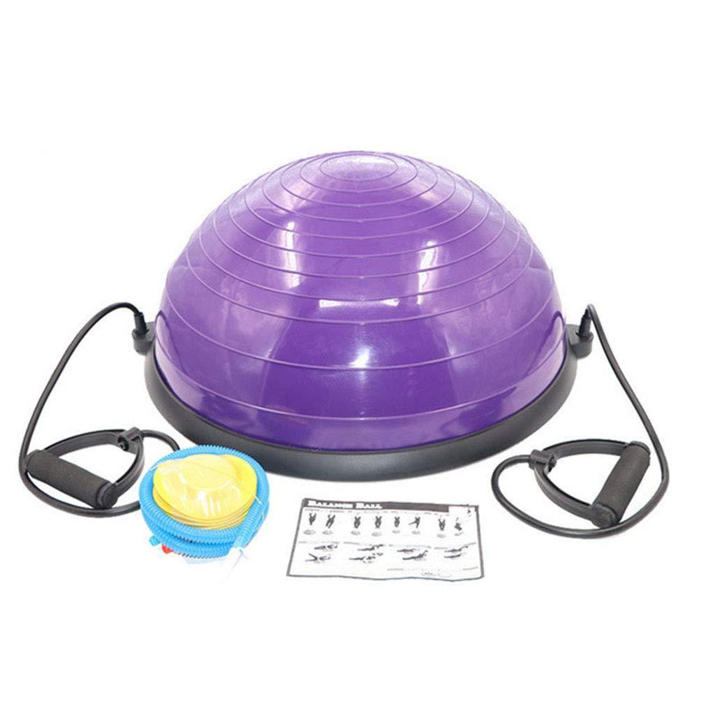 NSC Yoga Balance Balls Pilates Gym Workout Half Fitness Ball Exercises Trainer Explosion-Proof Yoga Ball (Color : Purple)