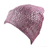 BSGSH Beanie Hat for Men Women Unisex Fashion Glittering Knit Hat Cap Warm, Stylish and Soft (Pink)