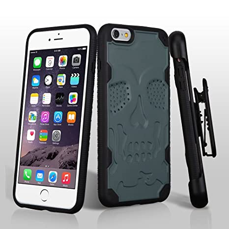 Amazon.com: Para iPhone 6S Plus/6 Plus Skullcap defyr ...