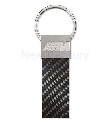 BMW M carbono colgante clave Anillo llavero - Negro ...