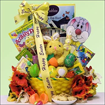 Amazon hoppin easter fun childrens easter basket boy or hoppin easter fun childrens easter basket boy or girl ages 3 to 5 negle Gallery