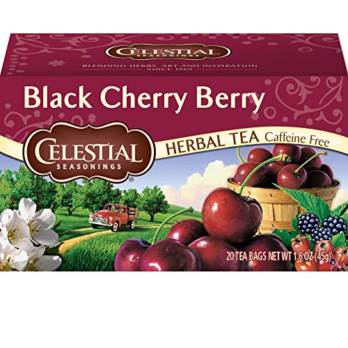 Herbal Tea, Black Cherry Berry, 20 Count (Pack of 6) ()