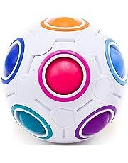 CUBIXS – Regenbogenball Magic-Ball – Logik Spielzeug Brainteaser für Kinder und Erwachsene – 3D Puzzle Anti-Stressball