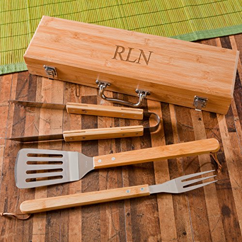 Personalized BBQ Set Bamboo Case product image